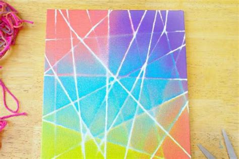 String On Canvas - canvas string graffiti craft thrifty momma ramblings