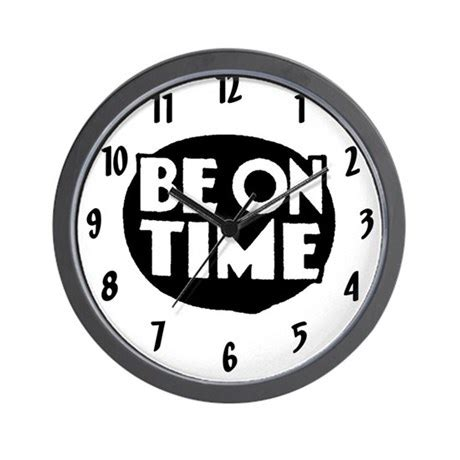 How To Decorate Your Livingroom by Retro Vintage Quot Be On Time Quot Wall Clock By Retropenguin