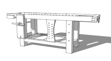 sketchup drawing   roubo workbench popular