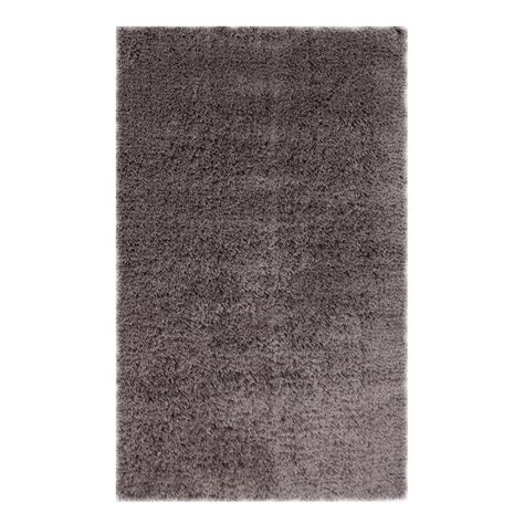 Microfiber Area Rug Lanart Soft Touch Shag Grey 5 Ft X 7 Ft Area Rug Softt5x7gy The Home Depot