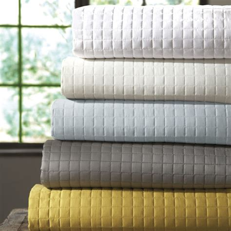 quilted cotton coverlet downtown company urban egyptian cotton quilted coverlet