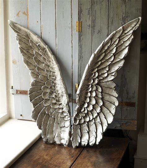 Home Interior Angel Figurines by Large Size Resin Angel Wing Decor