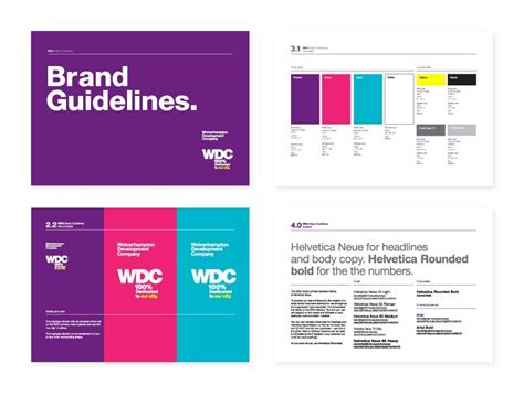 layout brand guidelines text on color background photos brand guidelines design