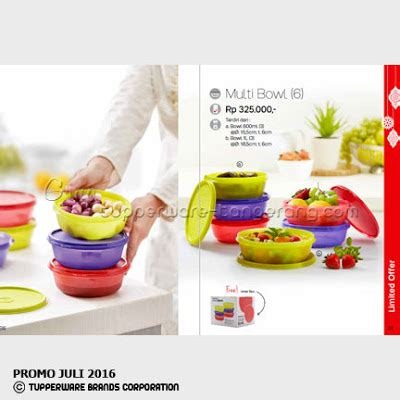 Tupperware Multi Bowl multi bowl 6 katalog tupperware promo juni 2016