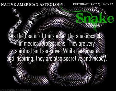 native american astrology snake birthdate oct 23 nov