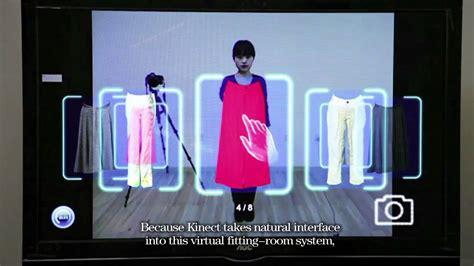 The Technology To Hit The Fitting Rooms Interactive Mirrors by Kinect For Windows China Workshop Demo Kinect Based