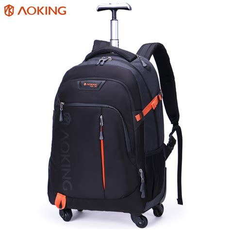 Waterproof Traveling Bags Tas Traveling Praktis Limited 2 aoking high quality waterproof travel trolley backpack luggage wheeled carry ons bags large