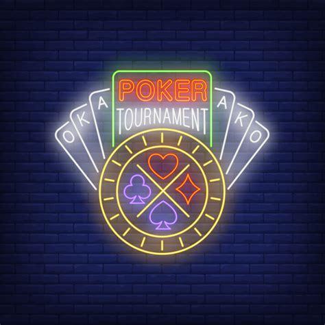 torneo de poker  texto de neon  cartas  chip vector gratis