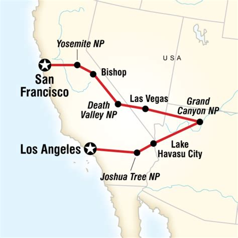 grand to la map san francisco to los angeles express in united states