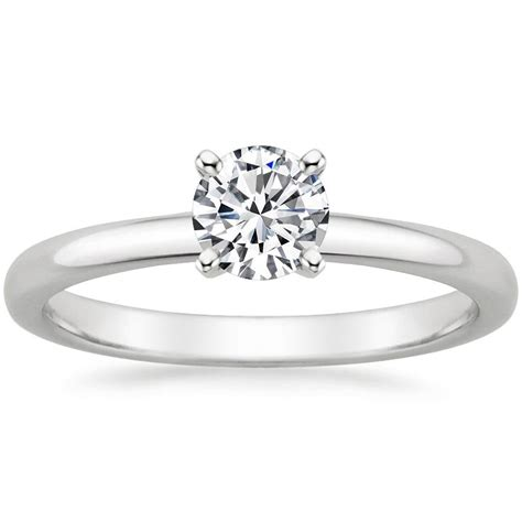 preset 18k white gold 2mm comfort fit ring with 0 50 carat