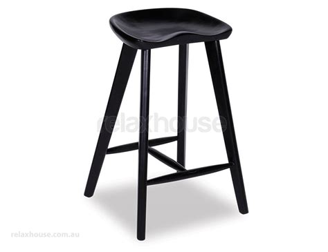 When Your Stool Is Black by Black Saddle Stool Backless Counter Barstools