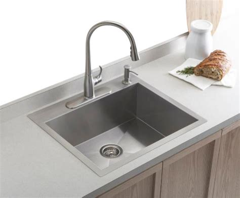 top kitchen sinks kohler k 3822 4 na vault top mount undermount single bowl