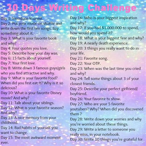 A Written Challenge by Selfmade 30 Days Writing Challenge Give It A Try D