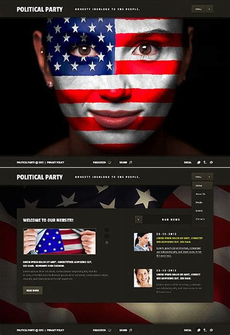 33 Best Images About Politics Website Design On Pinterest John Ford Website Template And Facebook Political Website Templates