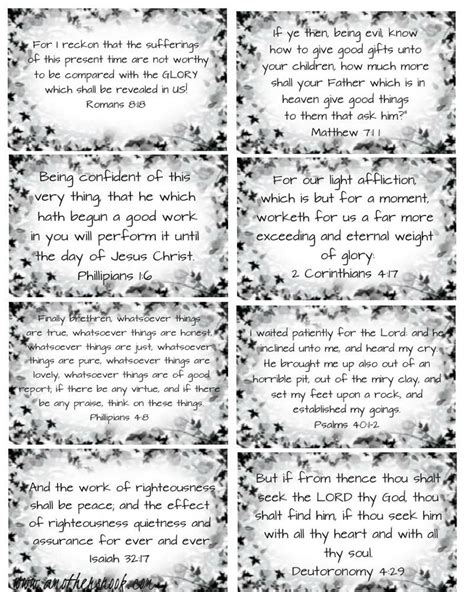 Printable Scripture Cards For