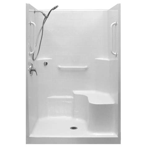 One Fiberglass Shower Stall With Seat by 1000 Ideas About Shower Stall Kits On