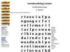 woodworking terms woodworking terms word search worksheet for 9th 12th