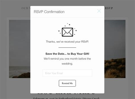 Warning! Mortified by The Knot Wedding Website RSVP function