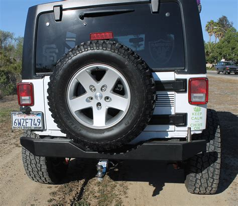 jeep rear olympic 4x4 products 550 jk rear rock bumper with spindal