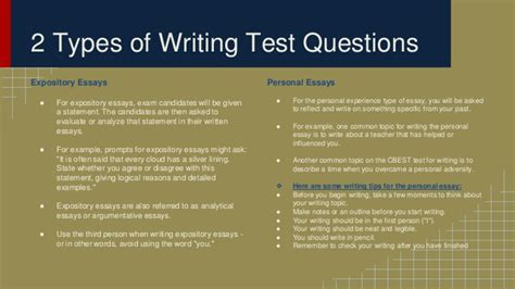 Cbest Essay Topics by Preparing For The Cbest Writing Section