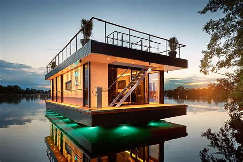 Houses Water by Rev Houseboat Uncrate