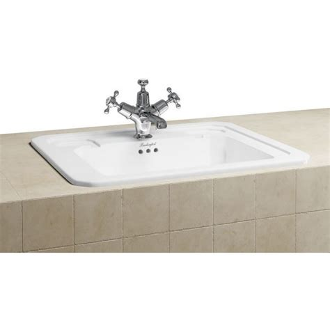 Inset Vanity Basins by Vanity Unit Basins Burlington Fully Inset Vanity Basin 54cm 1th White
