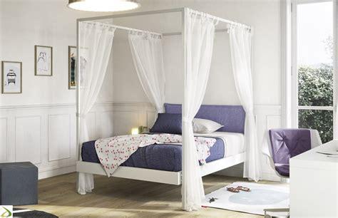 letto a baldacchino una piazza e mezza letto a baldacchino moderno kap arredo design