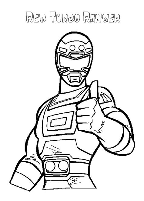 coloriage masque power rangers