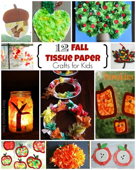 Fall Paper Crafts For - 12 fall crafts for using tissue paper where