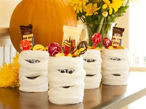 Halloween Giveaways Not Candy - halloween party favor mummy candy cans hgtv