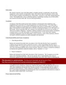 Letter Of Engagement Consulting Template by Sle Consulting Engagement Letter