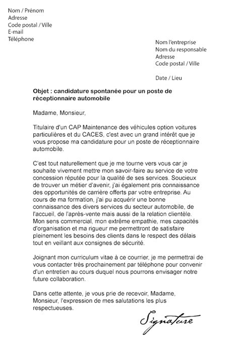 Exemple De Lettre De Motivation Mecanique Exemple De Cv Expert Automobile