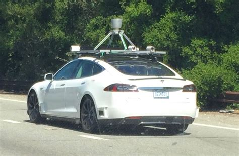 tesla with lidar and mfg plate spotted testing in palo