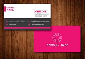 unique business card templates free pink creative business card vector template