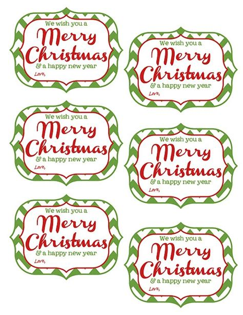 gift tag free printable printables pinterest
