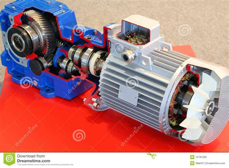 more motor electric motor with gears royalty free stock photo image