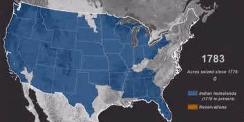 map time lapse of american seizure of indigenous land