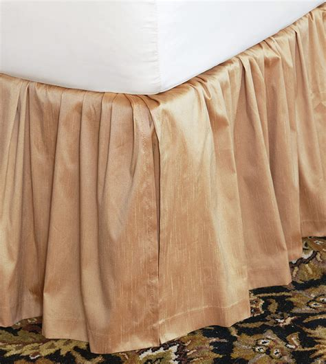 gold bed skirt luxury bedding by eastern accents edris gold bed skirt