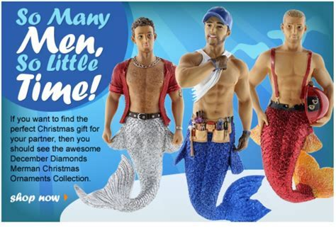 Spice Up Your Christmas Tree With Shirtless Merman