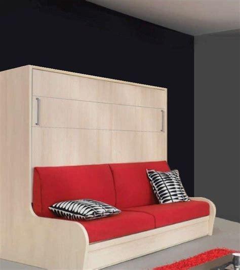 lit escamotable avec canape integre armoire lit transversal cus autoporteur avec canape