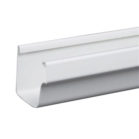 gutter hooks for lights home depot amerimax home products 10 ft white traditional vinyl