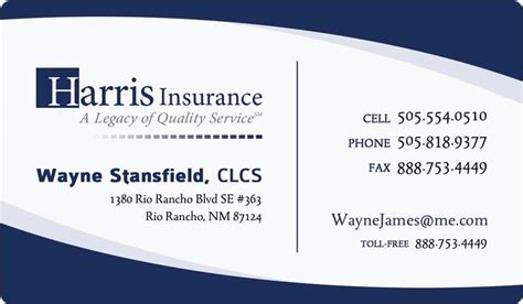 business cards exles templates business cards templates insurance business card