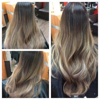 worlds best ash blonde ombre ash tone balayage ombre on asian hair yelp i woke up