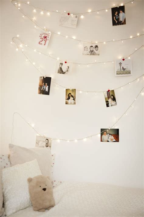 String Lights Wall - how you can use string lights to make your bedroom look dreamy