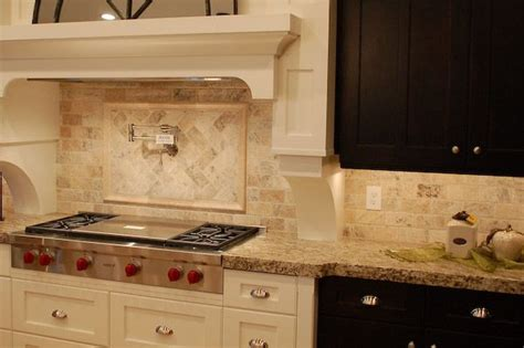 kitchen backsplash travertine tile backsplash stove travertine boarder kitchens