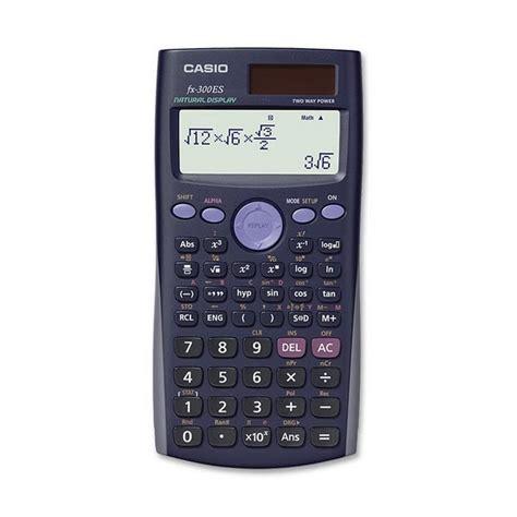 casio calculator casio fx 300es calculator actual size image