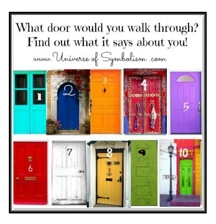 Which Would You Chosen by Which Door Do You Choose The Door Quiz