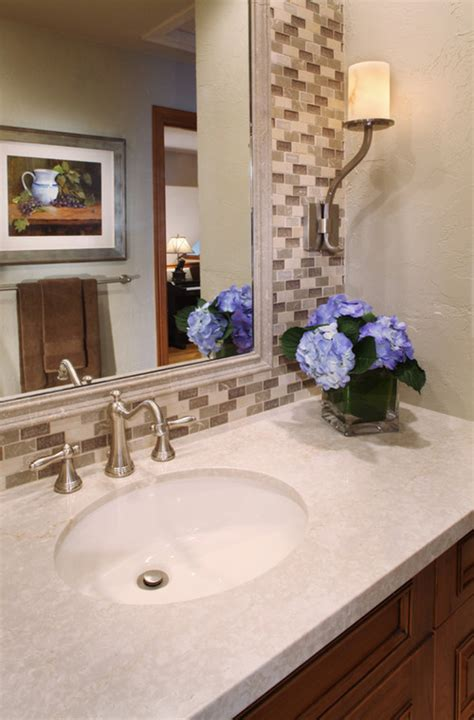 powder room backsplash ideas is the tile behind the mirror ceramic tile or wall paper