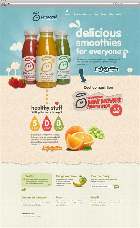 Re Align In 3 Minutes And 59 Seconds Product Website Innocent Drinks And Website Smoothie Website Template