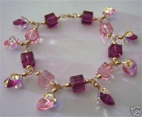 Handmade Charm Bracelet - handmade 14k gold filled swarovski ab charm